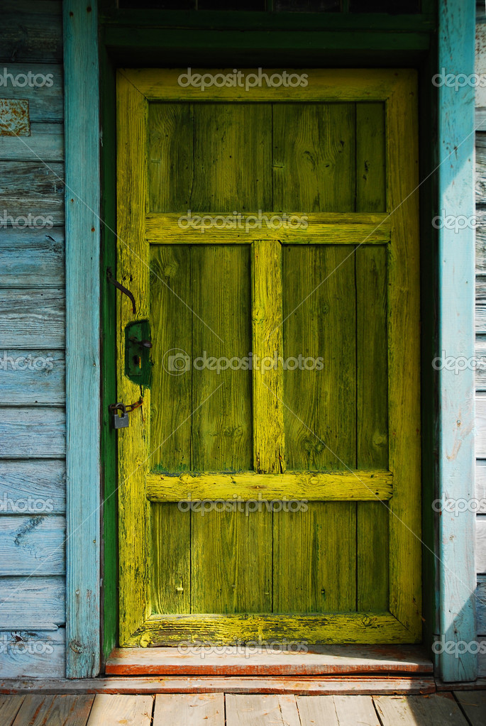 Detail of old yellow door — Stock Photo #2622038