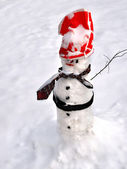 冬のシーンの雪だるま — ストック写真