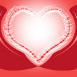 Stockfoto: Love illustration on red