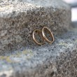 Wedding rings on stone — Stock Photo #1729583