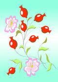 Briar tle kwiatów — Wektor stockowy