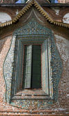 Temple window, decorated with tiles. — Stock Photo