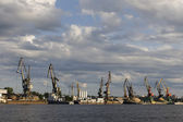 Cargo port in Cherepovets — Stock Photo
