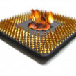 Stock Photo: Burning cpu