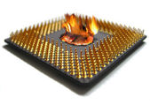 Burning cpu — Stock Photo