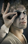 Man in make-up — Stock Photo