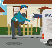 Mailman — Stock Vector