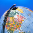 Globe map — Stock Photo