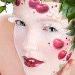 Cherry lips — Stock Photo
