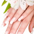 Beautiful nails and fingers — Stockfoto
