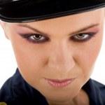 Genç polis kadın portresi — Stok fotoğraf