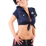 genç kadın polis — Stok fotoğraf