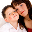 Foto Stock: Mother angel and son angel
