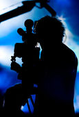 Cameraman silhouette — Stock Photo