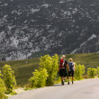 Mountaineers on the road — Stockfoto