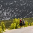 Mountaineers on the road — Stock Photo