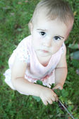 Baby looking up — Stock Photo