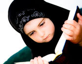 Young adorable Islamic girl — Stock Photo