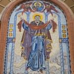 Fresco over church entrance — Stock Photo #1736710