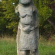 Old Slavic pagan stone statue — Stock Photo
