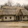 Old traditional ukrainian house - Stock Photo