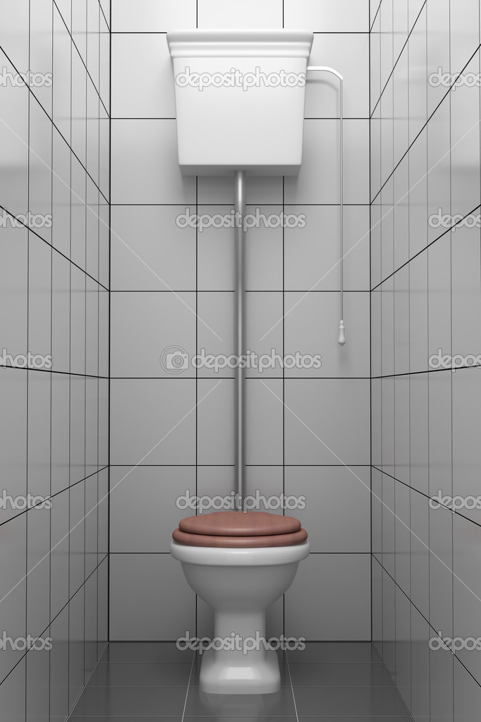retro style toilet with gray tiles stock photo tiler84 1798951. Black Bedroom Furniture Sets. Home Design Ideas