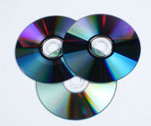 Dvd and cd — Stock Photo