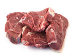 Meat on a light background — Stock Photo