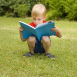 The boy with the book — Stock Photo