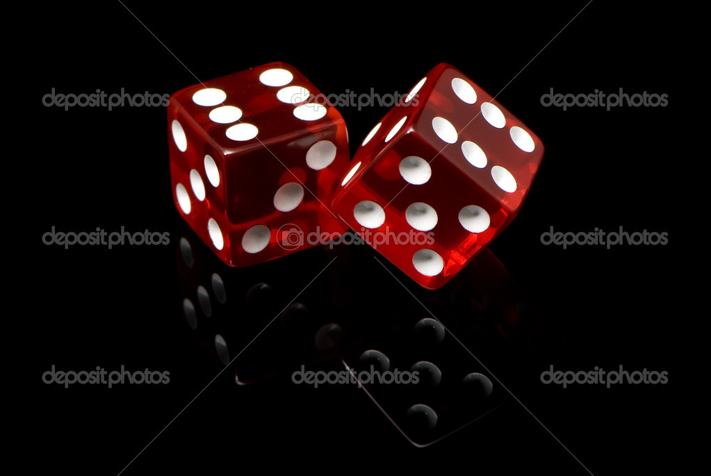 craps on a black background — Stock Photo #1744439