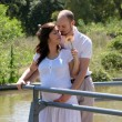 Beautiful pregnant woman and her husband — Stock Photo