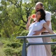 Beautiful pregnant woman and her husband — Stockfoto #1780024