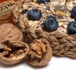 nozes e outros produtos alimentares — Foto Stock
