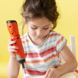 Stock Photo: Little Girls on creative lesson