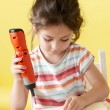 Little Girls on creative lesson — Stock Photo #1947412