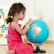The little girl with globe — Stock Photo #1947439