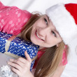 Santa Clause With New Year's gifts — Foto Stock