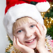 Stock Photo: Portrait Small Santa Klaus