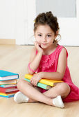Preschooler with book — Stock Photo