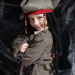 Little boy wearing pirate costume — Stock Photo
