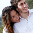 Close-up of a young couple smiling — Stock Photo
