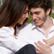 Close-up of a young couple in love - Photo