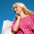 Stock Photo: Shopping pretty girl