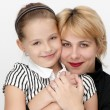Portrait of mother with a daughter — Stock Photo