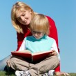Stock Photo: Literature lesson on fresh air