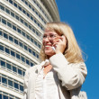 Stock Photo: Beautiful business woman on the phone