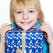Little boy with gifts — Stock Photo #1952334