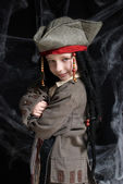 Little boy wearing pirate costume — Stock Photo