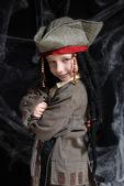 Costume pirate portant de little boy — Photo