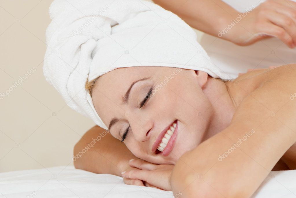 Lovely lady in massage salon  Stock Photo #1953223